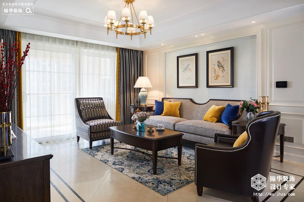 美式风格-中城誉品-四室两厅-140平-装修实景效果图