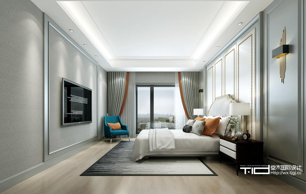 现代风格-万象九里-别墅-380平-装修效果图装修-别墅-现代简约