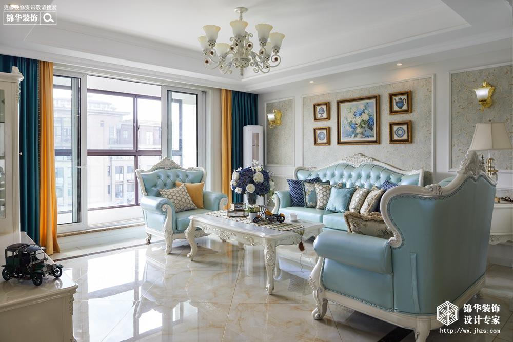 国信观湖湾134平欧式风格实景图装修-三室两厅-欧式古典