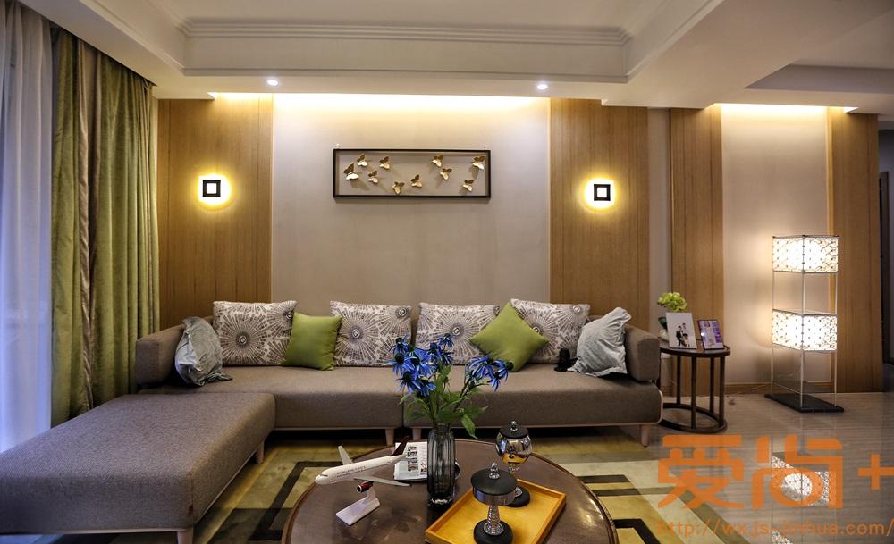 现代简约风格-玉兰花园-三室两厅-160平-装修实景效果图
