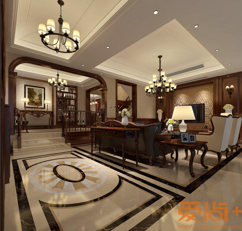 华府庄园360平美式风格实景图