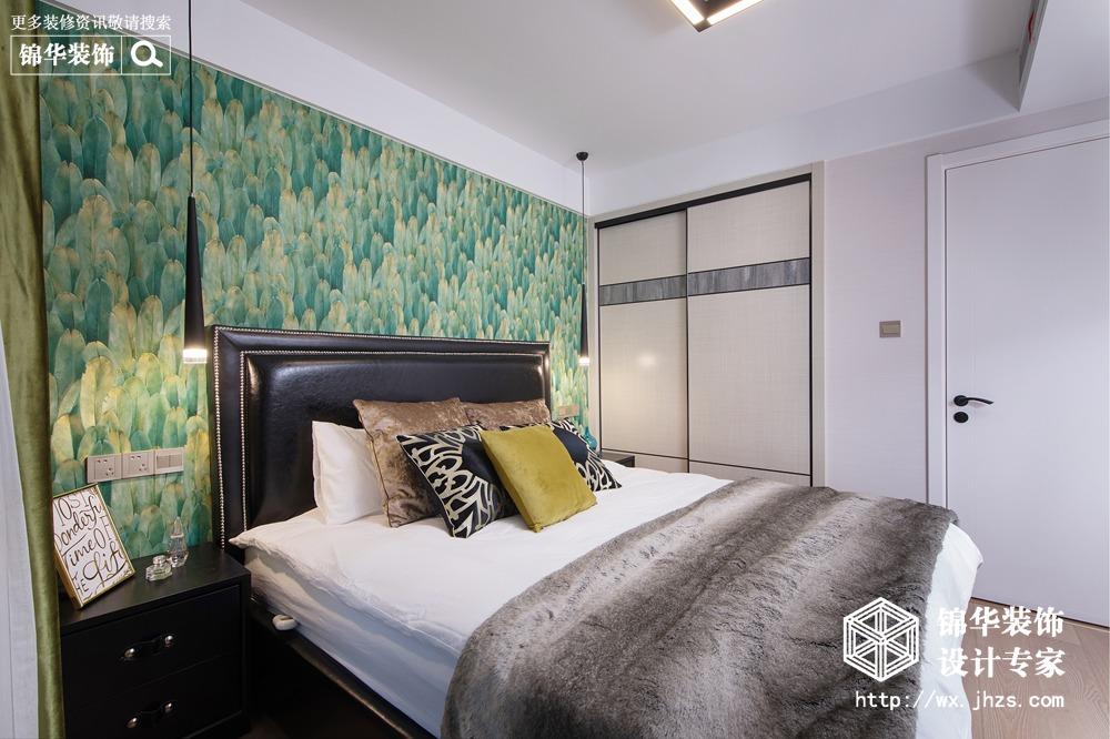 孔雀雅园100平现代简约风格实景图装修-三室两厅-现代简约