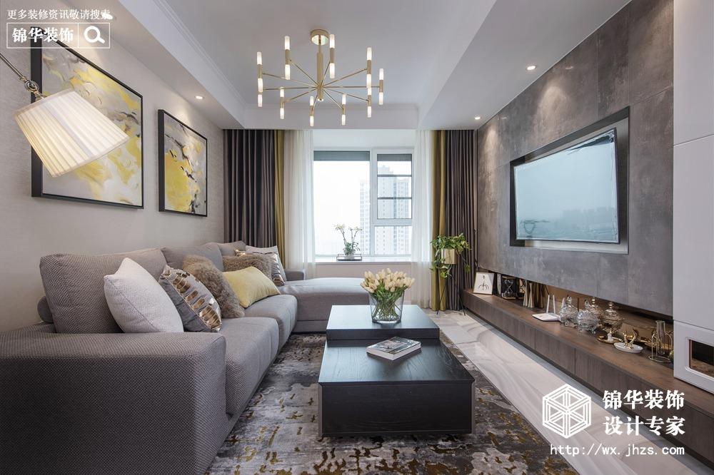 孔雀雅園100平現代簡約風格實景圖裝修-三室兩廳-現代簡約