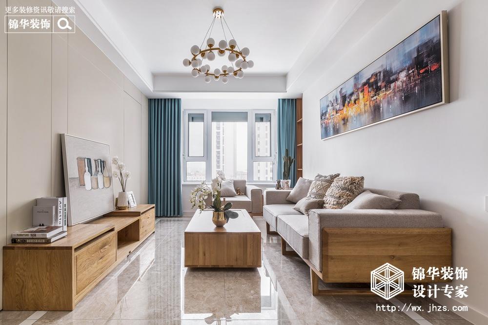 现代风格-孔雀城-三室两厅-89平米-装修实景效果图