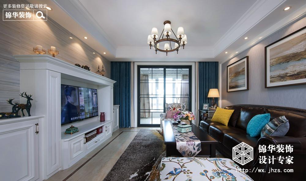 美式风格-孔雀城二期-四室两厅-140平米-装修实景效果图