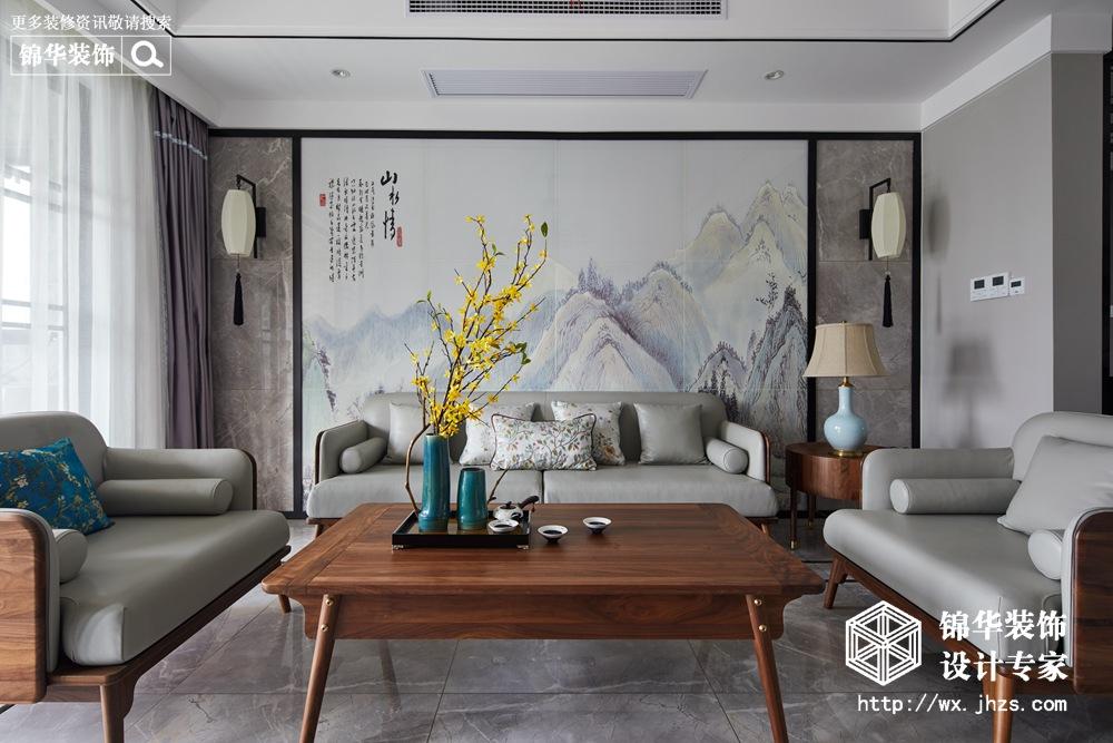 西水东156平新中式风格实景图