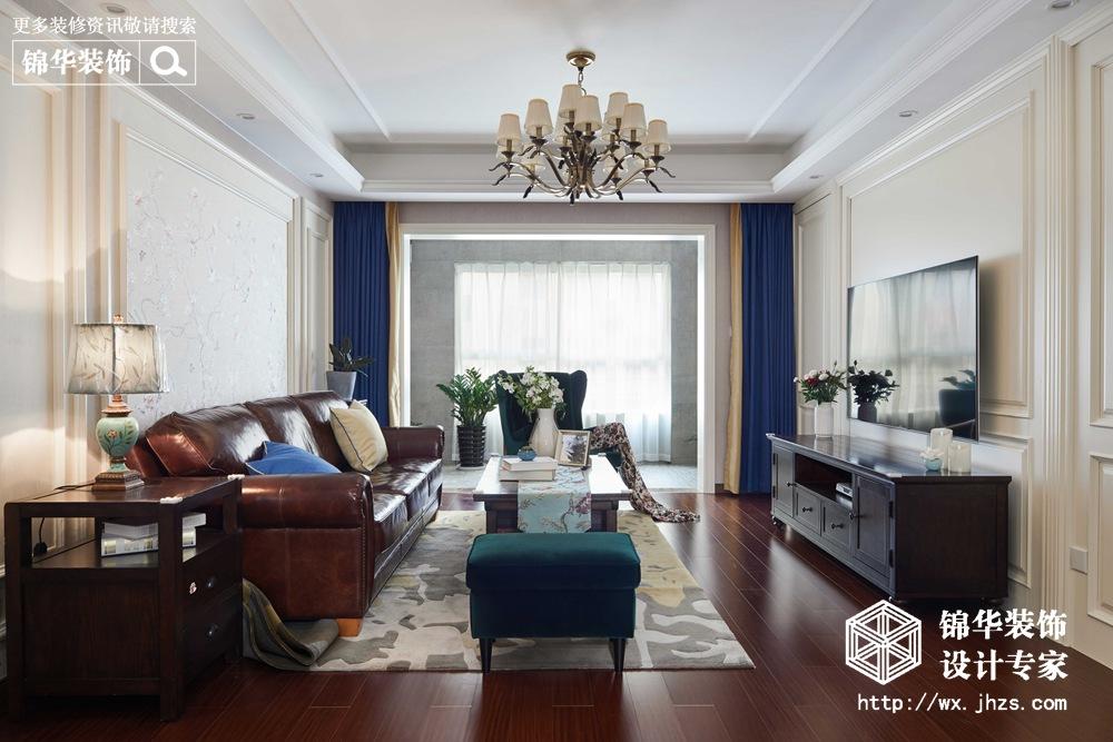 美式风格-万科酩悦-四室两厅-140平-装修实景效果图