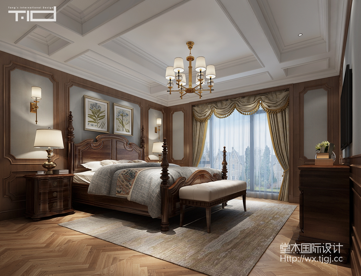 天一城596平欧式风格效果图装修-别墅-欧式古典图片