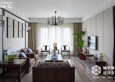 新中式风格-朗诗太湖绿郡-三室两厅-136平-装修实景效果图