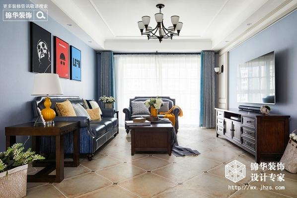 美式风格-尚锦城-三室两厅-140平-装修实景效果图