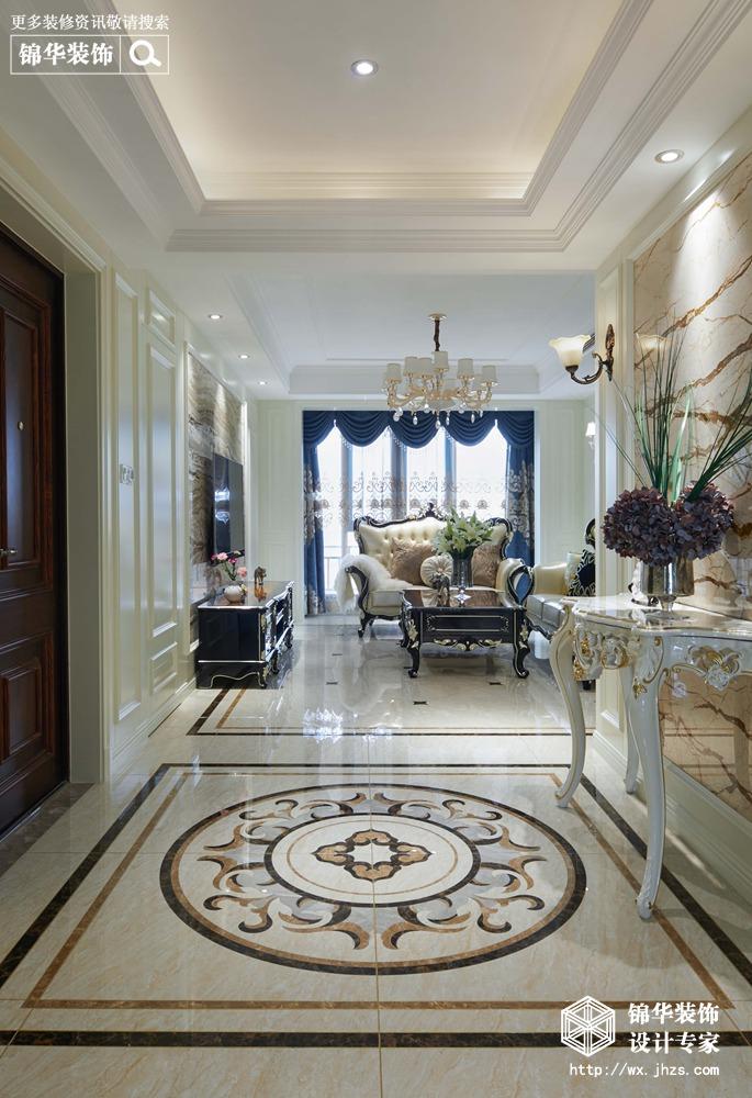 华府庄园150平欧式新古典风格实景图装修-三室两厅-欧式古典