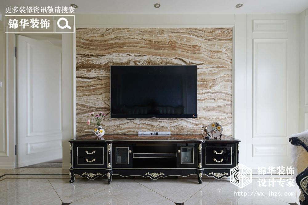 华府庄园150平欧式新古典风格实景图装修-三室两厅-欧式古典图片