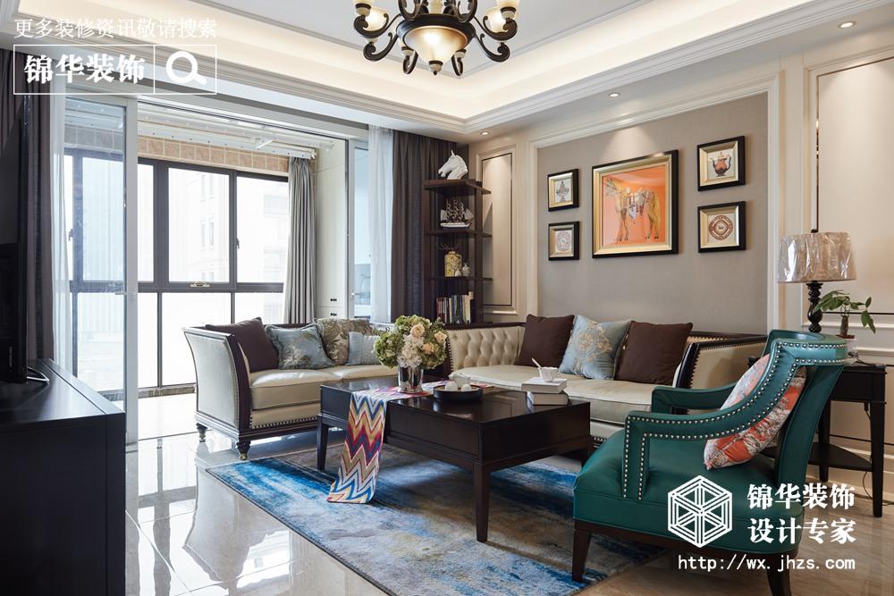 现代美式风格-上府名园-四室两厅-136平-装修实景效果图