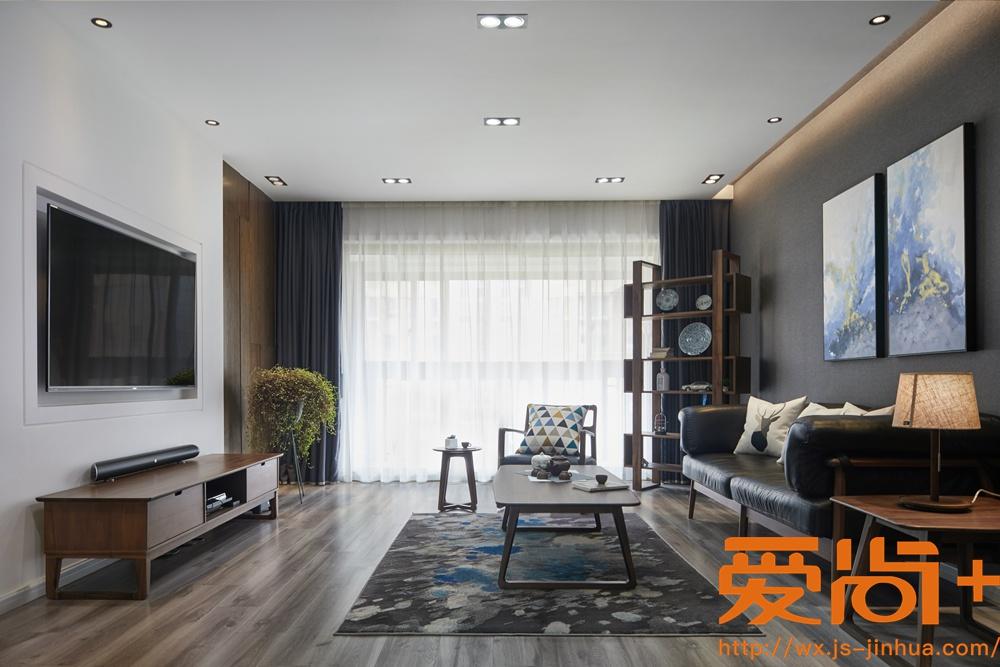 现代风格-栖霞栖园-四室两厅-180平-装修实景效果图