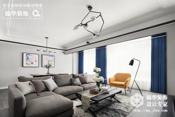 现代风格-中海珑玺-三室两厅-140平-装修实景效果图