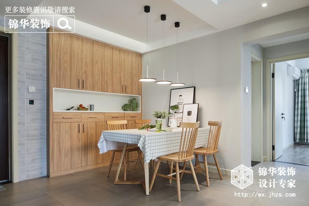 金洋奥澜118平北欧风格实景图装修-三室两厅-北欧
