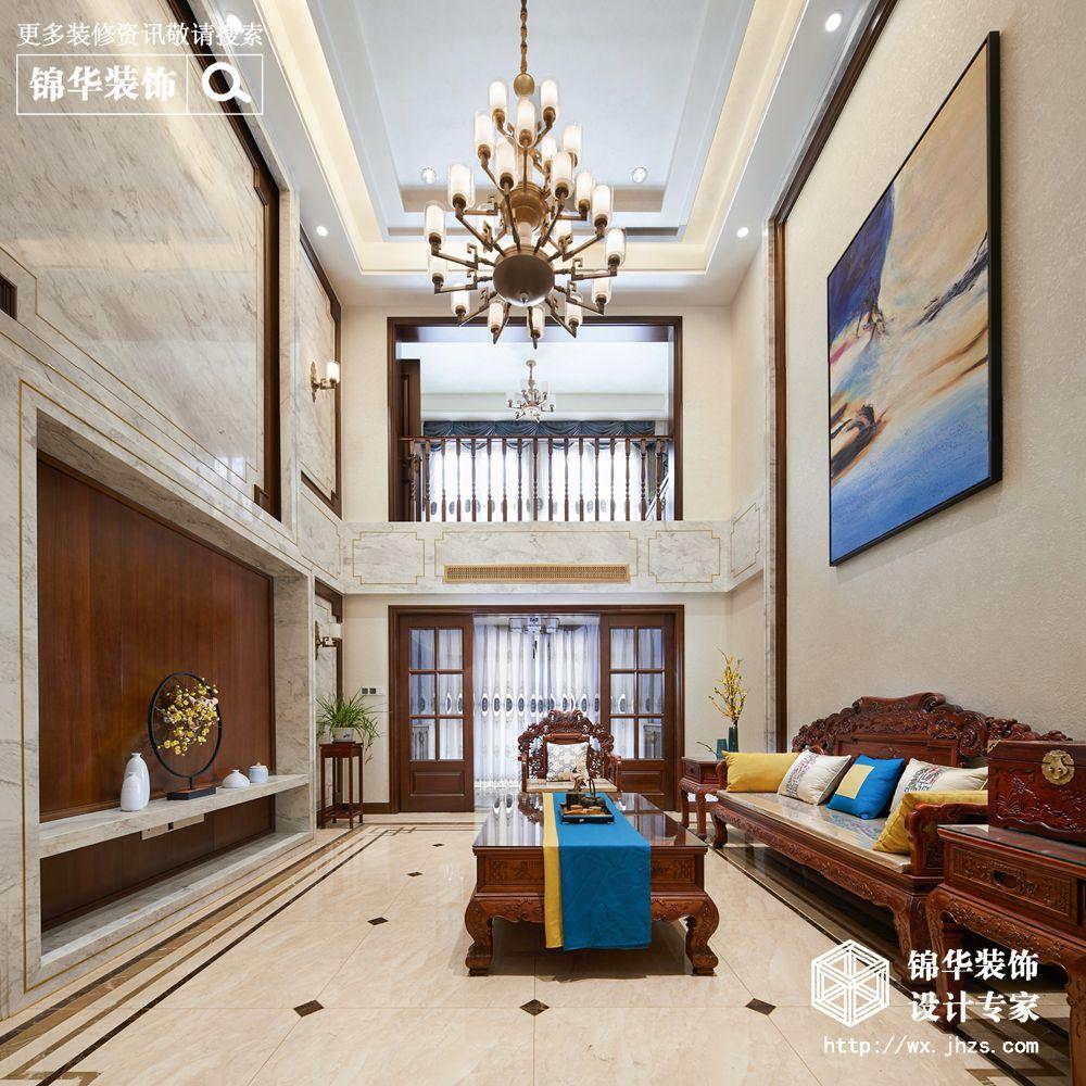 天池湾200平新中式风格实景图装修-跃层复式-新中式