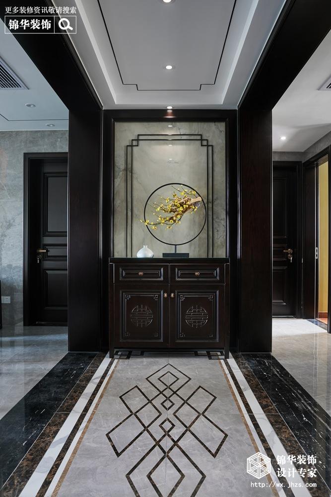 西亭家园143平新中式风格实景图装修-三室两厅-新中式
