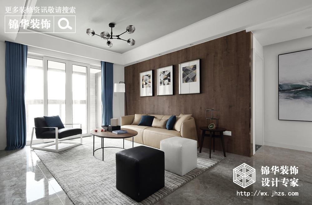 现代简约-繁华里-三室两厅-120平-装修效果实景图