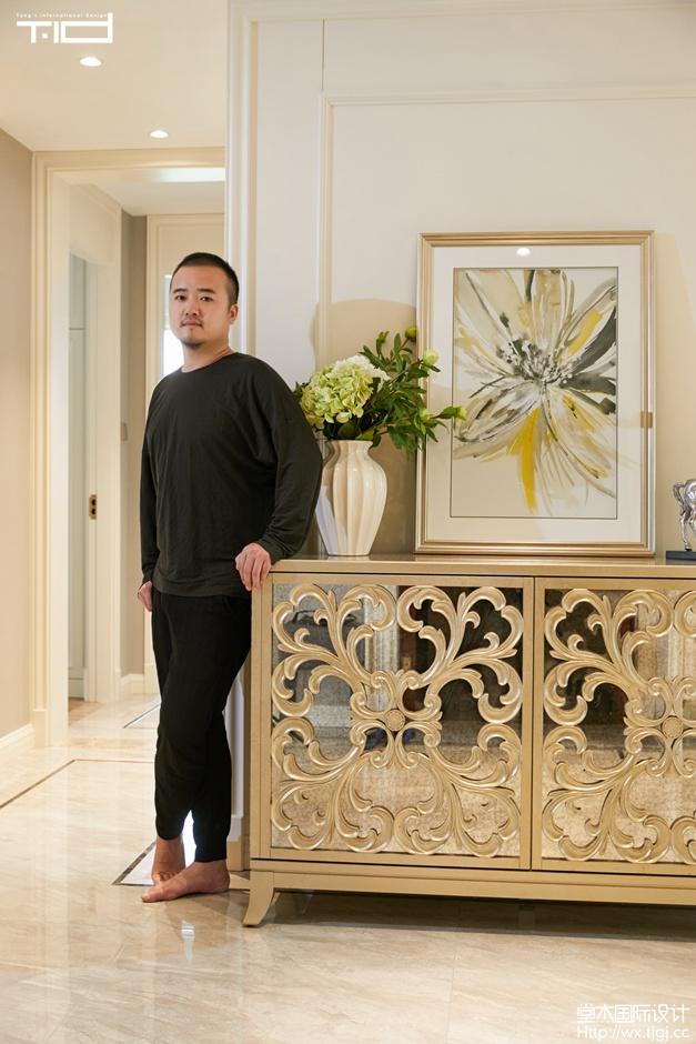 玉兰花园200平美式轻奢风格实景图装修-大户型-简美