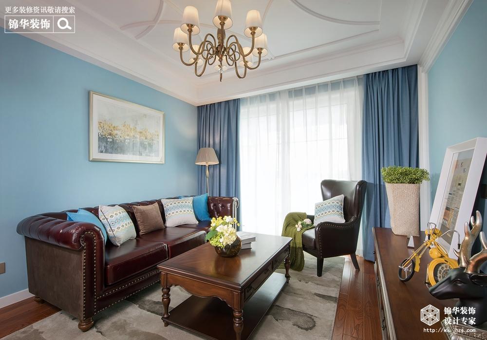 美式风格-蓝庭国际-两室两厅-100 平-装修效果实景图