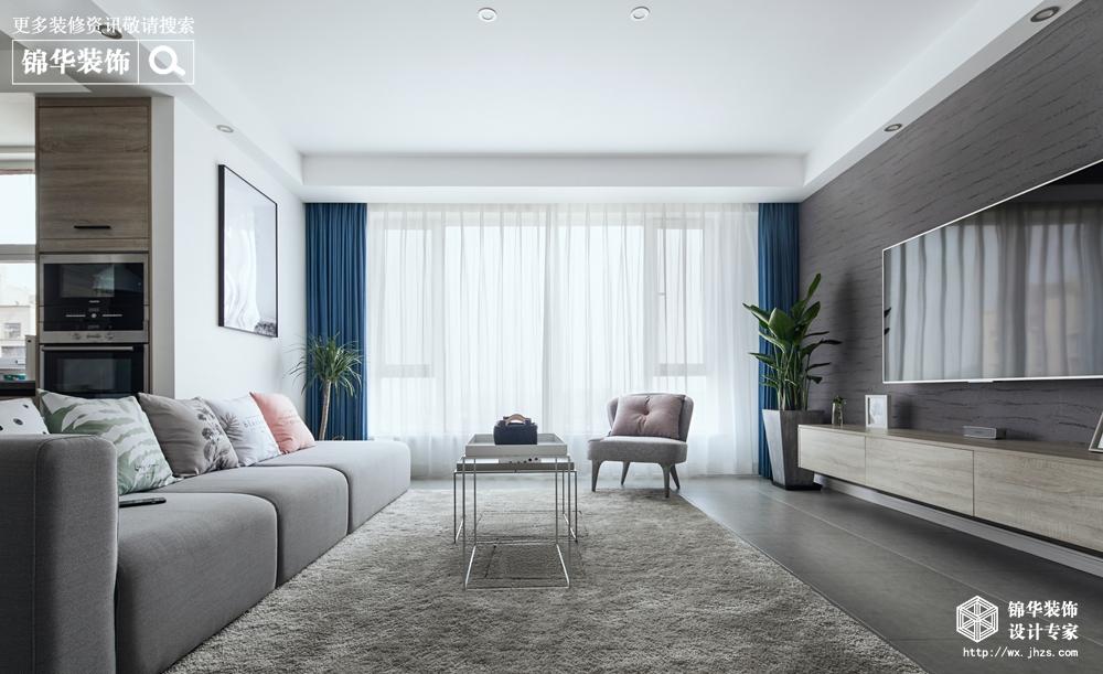 北欧风格-水韵金阁-四室两厅-132平-装修实景效果图