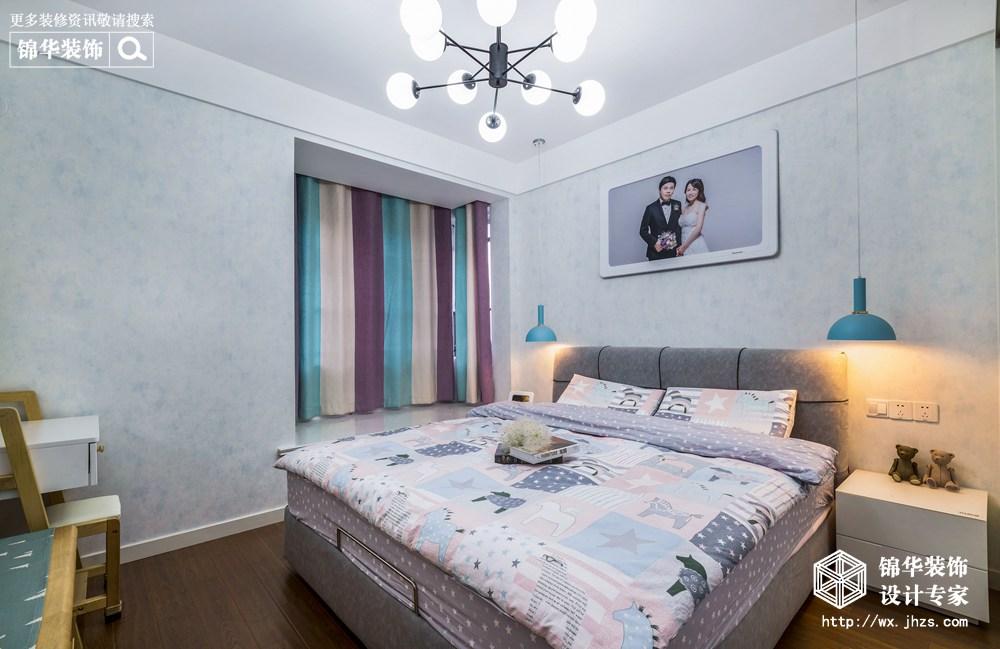 现代风格-新城金郡-三室两厅-128平-卧室-装修效果实景图