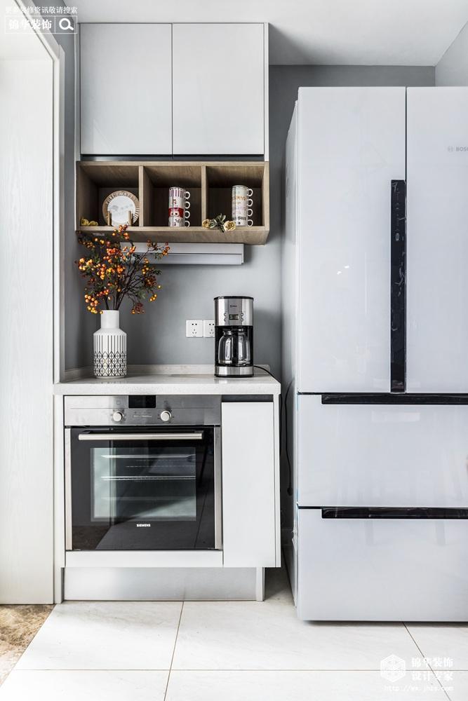 现代风格-新城金郡-三室两厅-128平-厨房-装修效果实景图