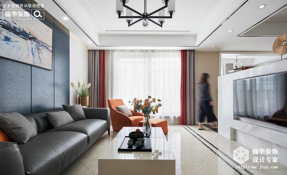 现代简约风格-蓝光五彩城-三室两厅-139平-装修实景效果图