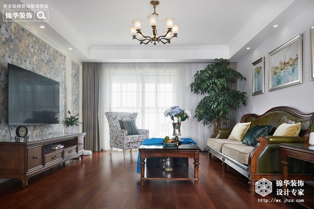 现代美式风格-金水名都-三室两厅-143平米-装修实景效果图