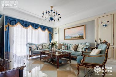 简欧风格-上府名园-三室两厅-136平-装修实景效果图