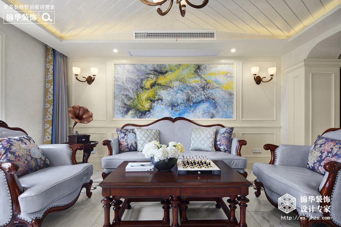 现代欧式古典风格-蠡湖尚郡-跃层复式-320平-装修实景效果图