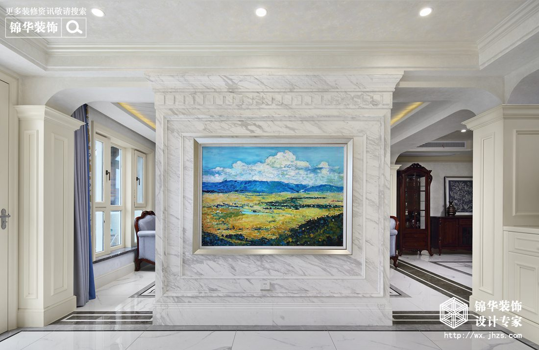 蠡湖尚郡320平现代欧式古典风格实景图装修-跃层复式-欧式古典