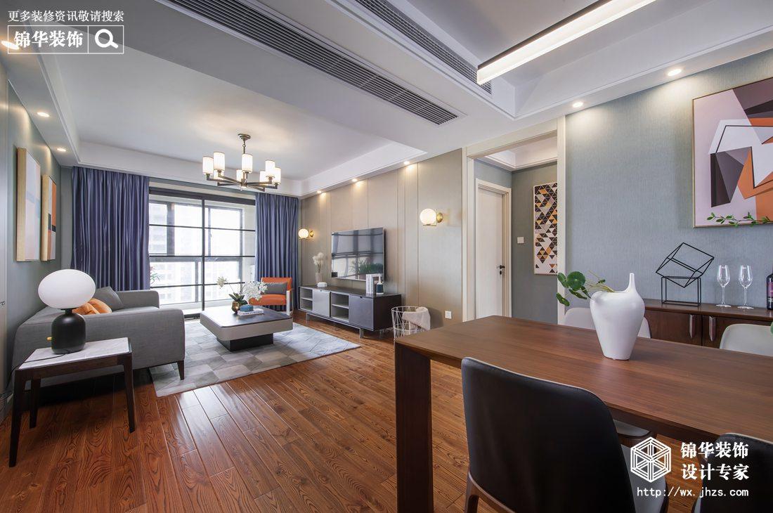 现代简约-繁华里-三室两厅-118平-装修效果实景图