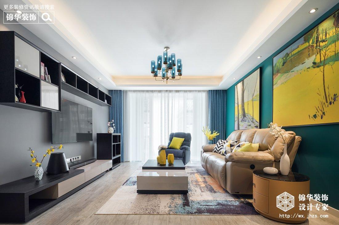 现代简约风格-保利香槟-三室两厅-146平-装修实景效果图