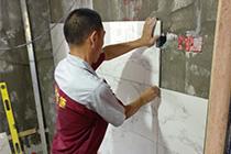 墙砖十字架铺贴