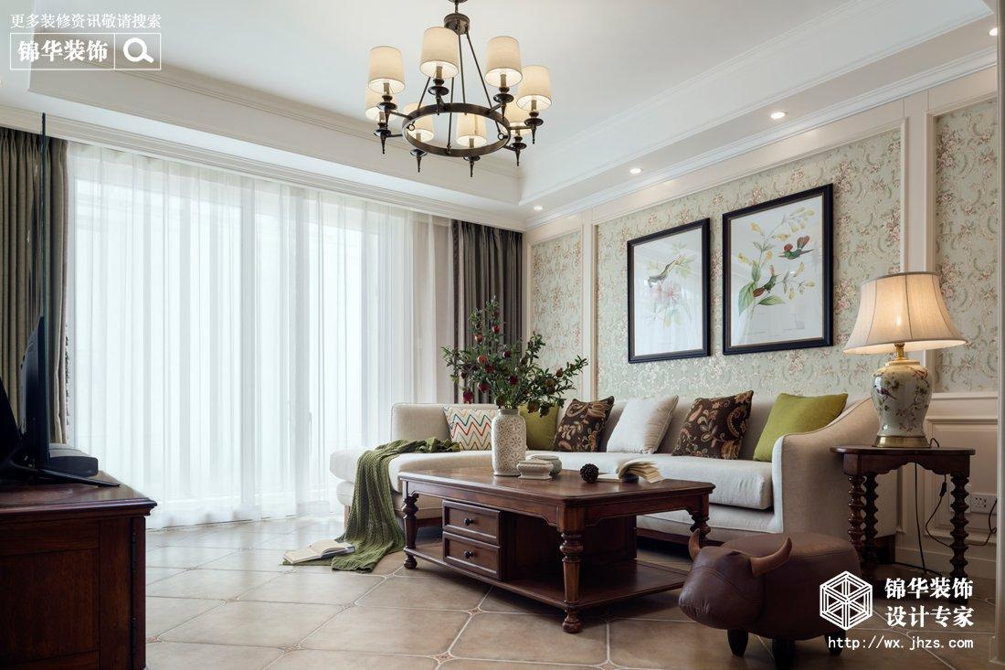 太湖国际130平现代美式风格实景图