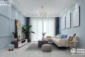 北欧风格-宝能城-两室两厅-108平-装修实景效果图