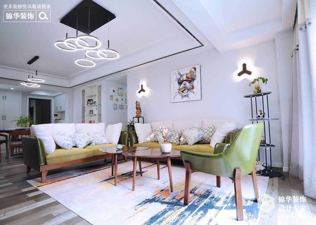 现代风格-金水名都-三室两厅-130平米-装修实景效果图