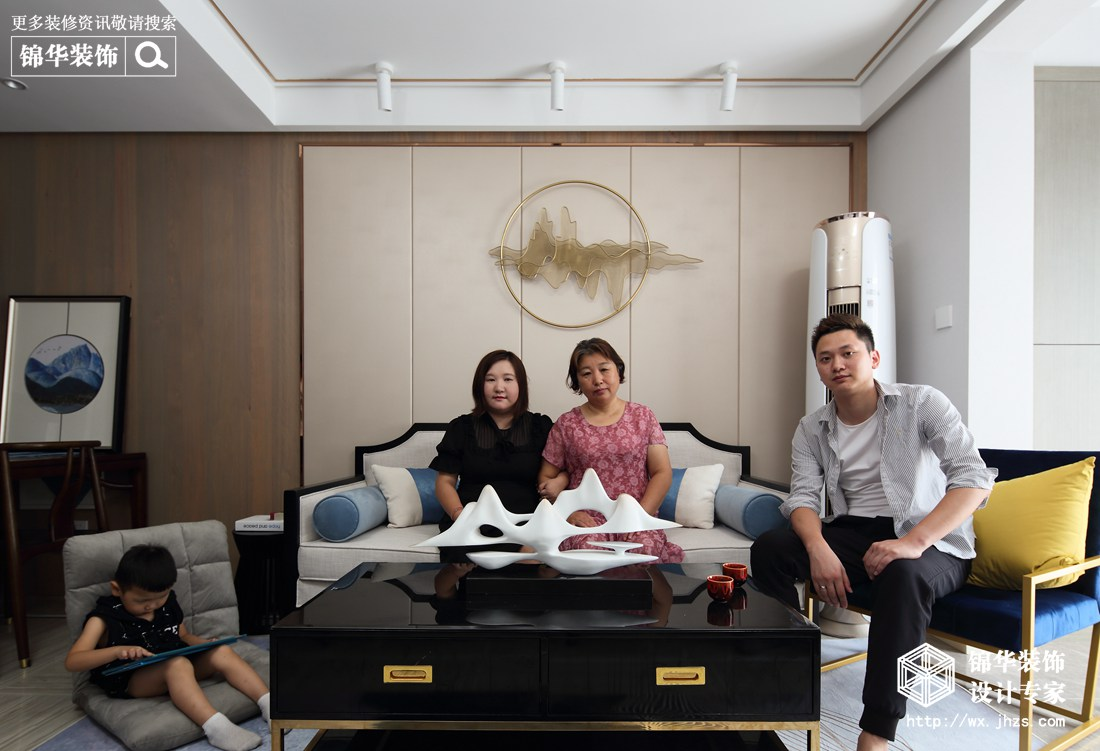 中式风格-孔雀城-三室两厅-110平-客厅-装修效果实景图