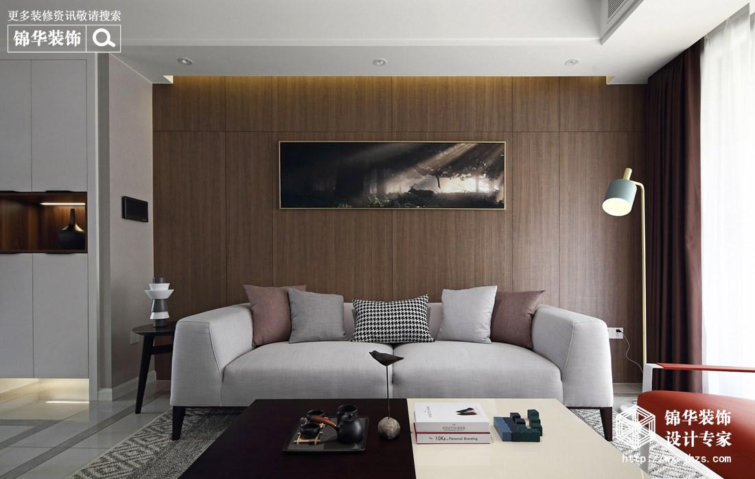 现代简约风格-保利中央公园-三室两厅-125平米-装修实景效果图
