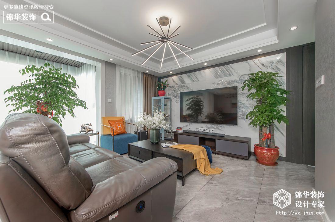 现代简约-时代上城繁华里-三室两厅-137平-装修效果实景图