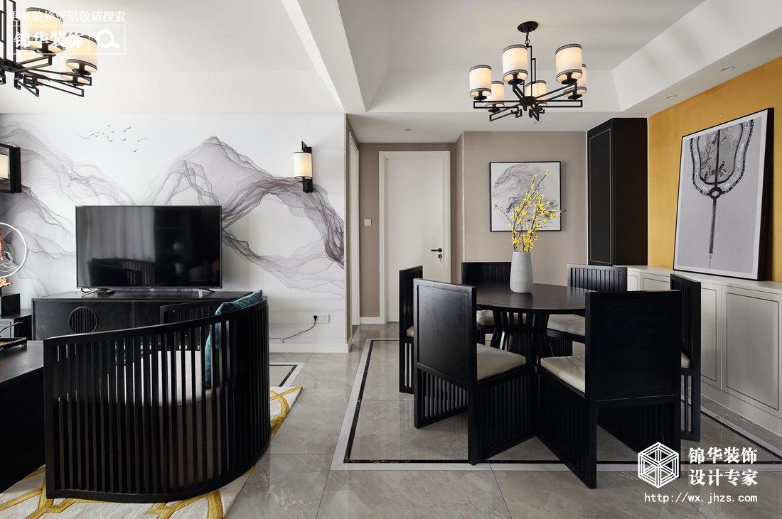 保利中央公园 115平新中式风格实景图装修-三室两厅-新中式