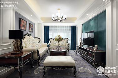 欧式风格-朗诗绿卡小镇-三室两厅-102平米-装修实景效果图