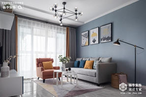 现代风格-百乐和园-三室两厅-89平-装修实景效果图