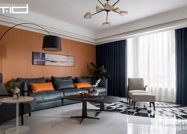 天安曼哈顿182平现代轻奢风格实景图