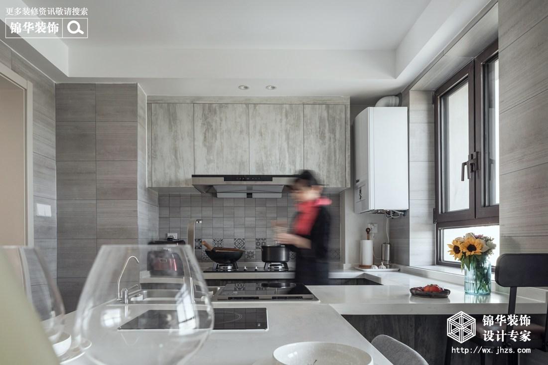 溪岸景园105平极简风格实景图装修-四室两厅-现代简约