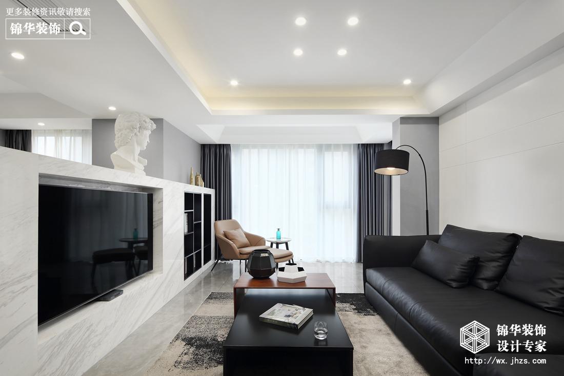 都市现代风格-保利中央公园-三室两厅-138平-装修实景效果图