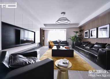 现代简约-新梅华府-大户型-270平-装修实景效果图