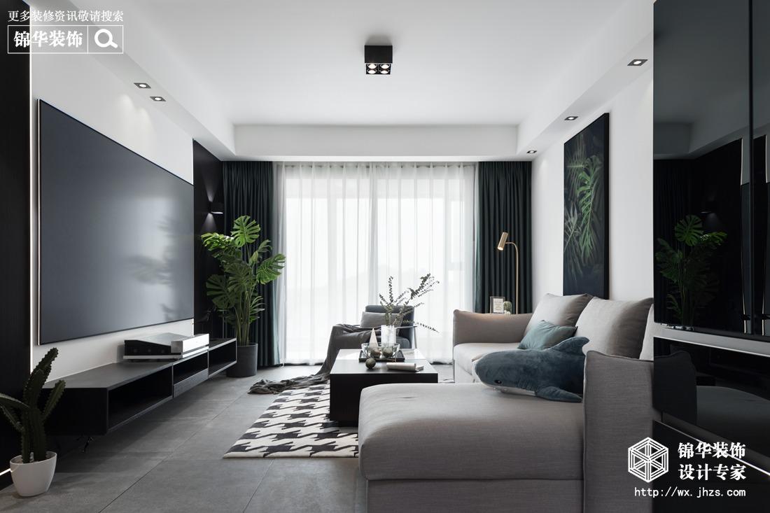 现代简约-百乐广场-三室两厅-140平-装修实景效果图